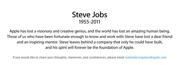 全球IT痛失教主!苹果前CEO乔布斯去世